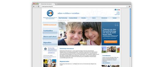 Jung, frisch, übersichtlich: der neue Webauftritt von Partnership International