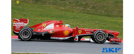 SKF equips teams in 2013 Formula One season